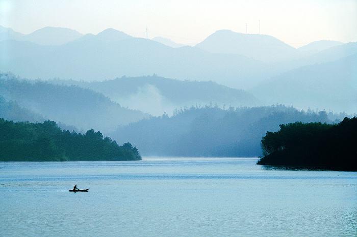 金桂湖晨雾